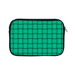 Caribbean Green Weave Apple Ipad Mini Zipper Case