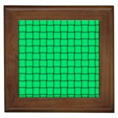 Spring Green Weave Framed Ceramic Tile