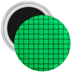 Spring Green Weave 3  Button Magnet