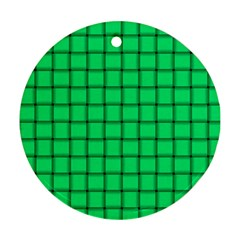 Spring Green Weave Round Ornament