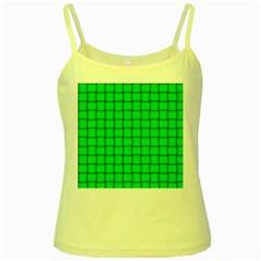 Spring Green Weave Yellow Spaghetti Tank