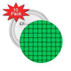 Spring Green Weave 2.25  Button (10 pack)
