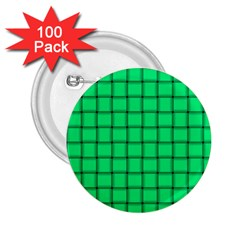 Spring Green Weave 2.25  Button (100 pack)
