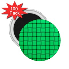 Spring Green Weave 2.25  Button Magnet (100 pack)