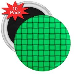 Spring Green Weave 3  Button Magnet (10 pack)