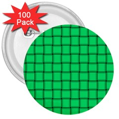 Spring Green Weave 3  Button (100 pack)
