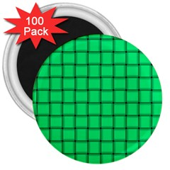 Spring Green Weave 3  Button Magnet (100 pack)