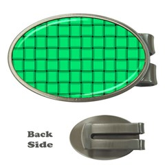 Spring Green Weave Money Clip (oval)
