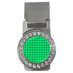 Spring Green Weave Money Clip (cz)