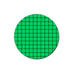 Spring Green Weave Drink Coasters 4 Pack (round)