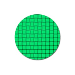 Spring Green Weave Magnet 3  (Round)