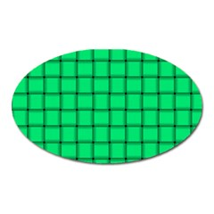 Spring Green Weave Magnet (oval)