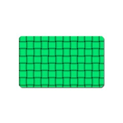 Spring Green Weave Magnet (Name Card)