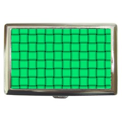 Spring Green Weave Cigarette Money Case