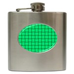 Spring Green Weave Hip Flask Front