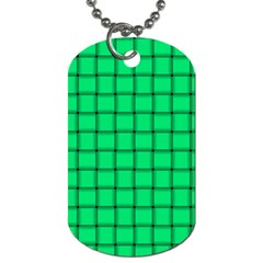 Spring Green Weave Dog Tag (Two Sided)