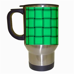Spring Green Weave Travel Mug (White)