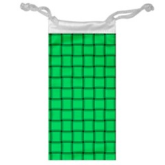 Spring Green Weave Jewelry Bag