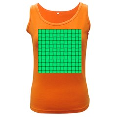 Spring Green Weave Womens  Tank Top (dark Colored)