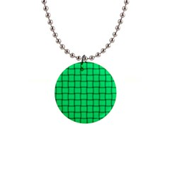 Spring Green Weave Button Necklace