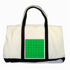 Spring Green Weave Two Toned Tote Bag