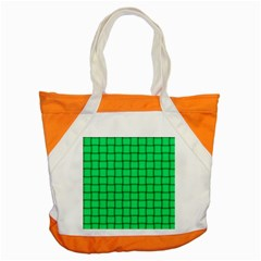 Spring Green Weave Accent Tote Bag