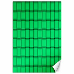 Spring Green Weave Canvas 12  x 18  (Unframed)