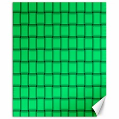 Spring Green Weave Canvas 16  x 20  (Unframed)