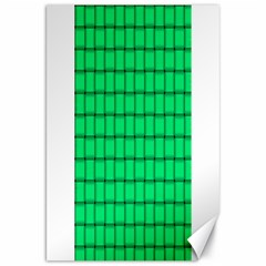 Spring Green Weave Canvas 20  X 30  (unframed)