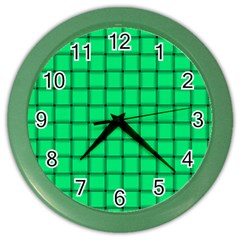 Spring Green Weave Wall Clock (Color)