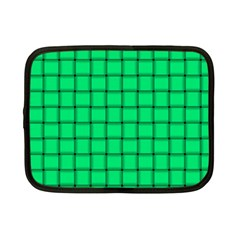 Spring Green Weave Netbook Case (small)