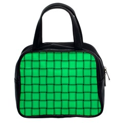 Spring Green Weave Classic Handbag (Two Sides)