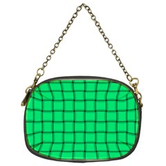 Spring Green Weave Chain Purse (One Side)