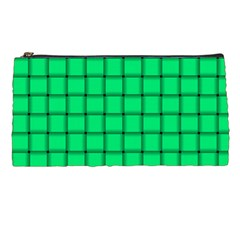 Spring Green Weave Pencil Case