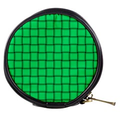 Spring Green Weave Mini Makeup Case