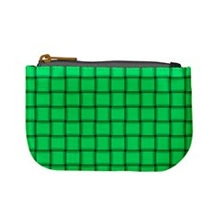 Spring Green Weave Coin Change Purse