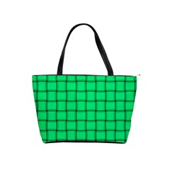 Spring Green Weave Large Shoulder Bag