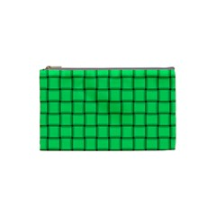 Spring Green Weave Cosmetic Bag (Small)