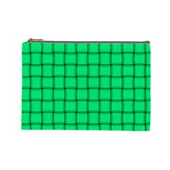 Spring Green Weave Cosmetic Bag (large)