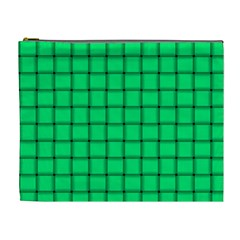 Spring Green Weave Cosmetic Bag (XL)