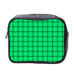 Spring Green Weave Mini Travel Toiletry Bag (Two Sides)