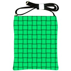 Spring Green Weave Shoulder Sling Bag