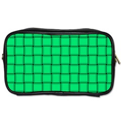 Spring Green Weave Travel Toiletry Bag (Two Sides)