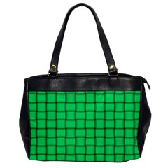 Spring Green Weave Oversize Office Handbag (One Side)
