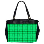 Spring Green Weave Oversize Office Handbag (Two Sides) Front