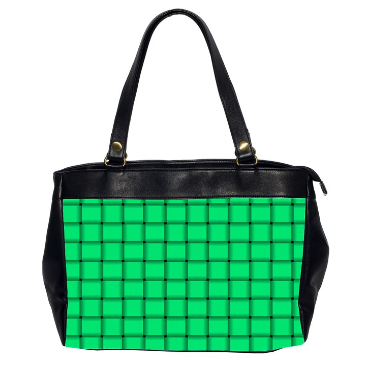 Spring Green Weave Oversize Office Handbag (Two Sides)