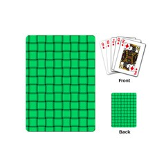 Spring Green Weave Playing Cards (mini)