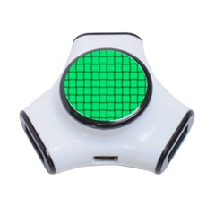 Spring Green Weave 3 Port Usb Hub