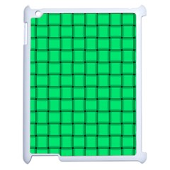 Spring Green Weave Apple iPad 2 Case (White)