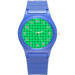 Spring Green Weave Plastic Sport Watch (small)